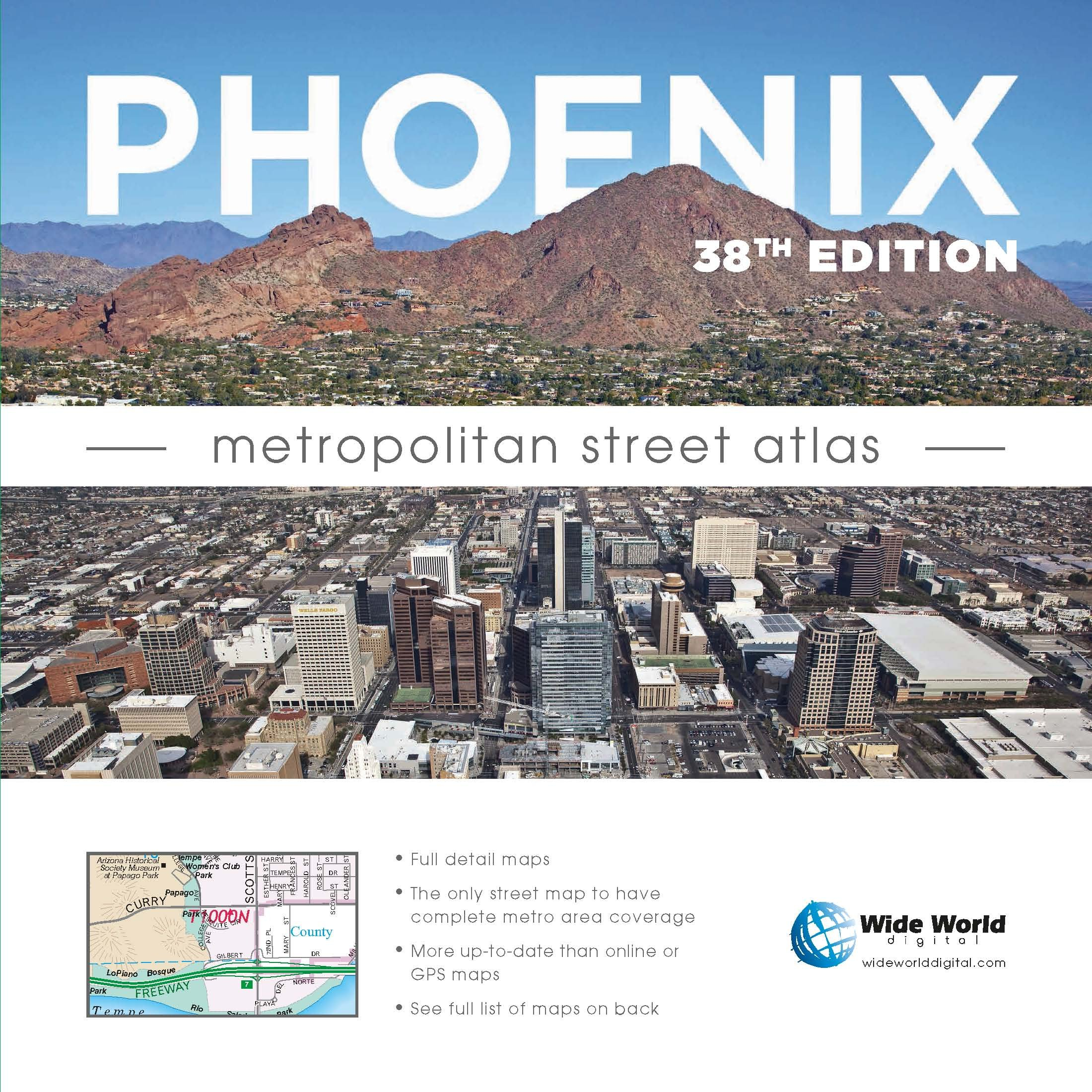 Phoenix Metropolitan Street Atlas: Wide World of Maps: 9781934839249 ...