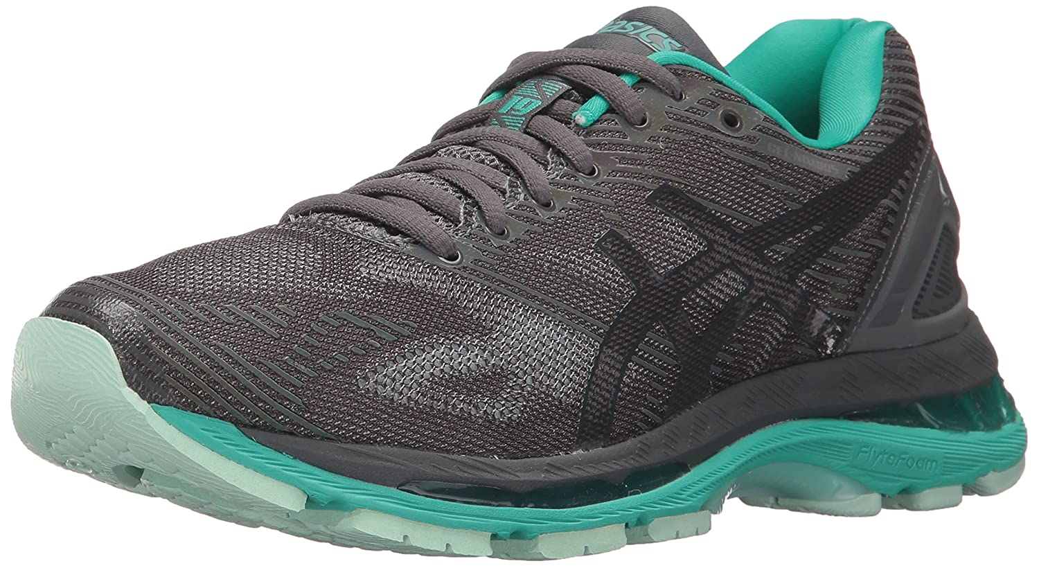 ASICS Women's Gel-Nimbus 19 Lite-Show Running Shoe B01MTKYOOU 12 B(M) US|Dark Grey/Black/Reflective