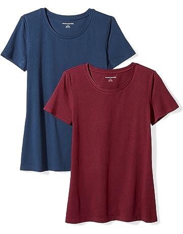 120b283f Amazon Essentials Women's 2-Pack Classic-Fit Short-Sleeve Crewneck T-Shirt