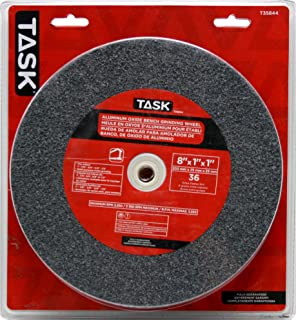 Task Tools T35844 8-Inch by 1-Inch Aluminum Oxide Bench Grinding Wheel,
