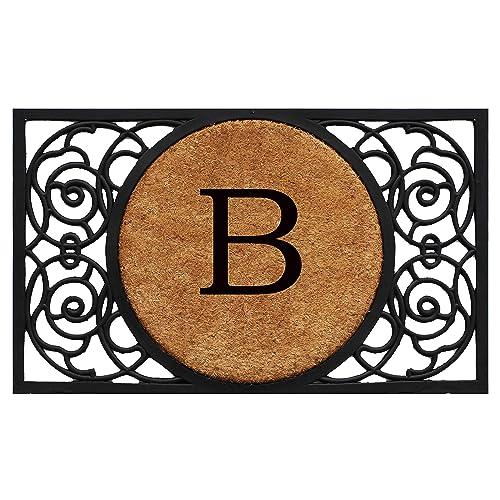 Calloway Mills 180031830B Armada Circle Monogram Doormat, 18 x 30 Letter B