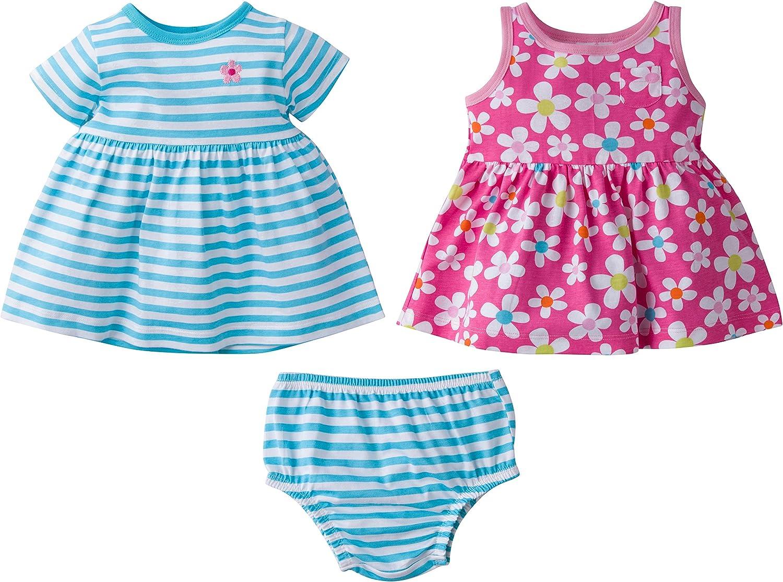 GERBER Baby Girls 3-Piece Dress Set