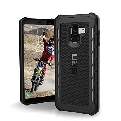 new styles ea7a0 bdb73 UAG Samsung Galaxy A8 [5.6-inch screen] [2018] Outback Feather-Light Rugged  [BLACK] Military Drop Tested Phone Case
