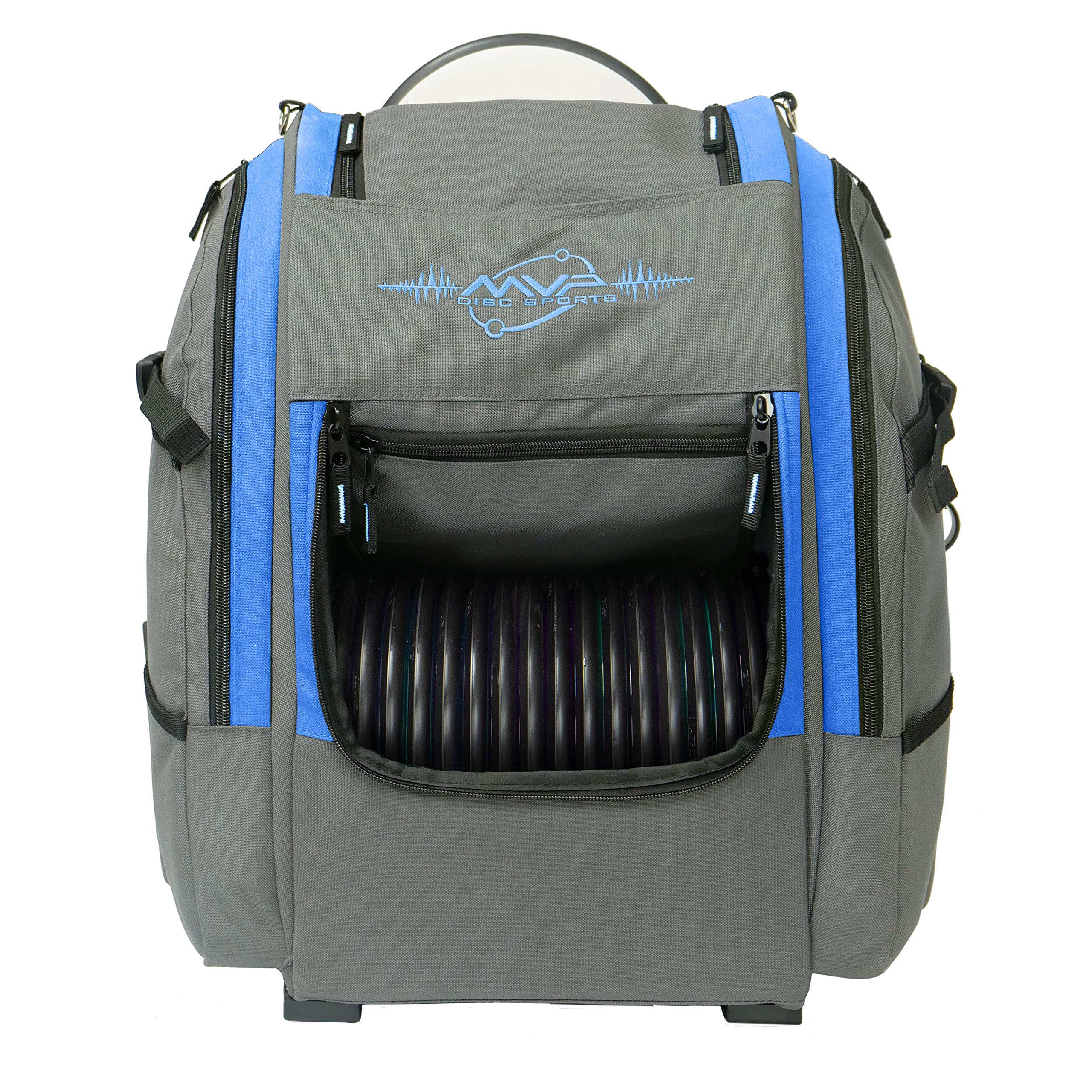MVP Disc Sports Voyager Backpack Disc Golf Bag (Version 2) Gray/Royal by MVP Disc Sports