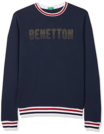 United Colors of Benetton Sweater L/s, suéter Niños, Azul (Blue 13C