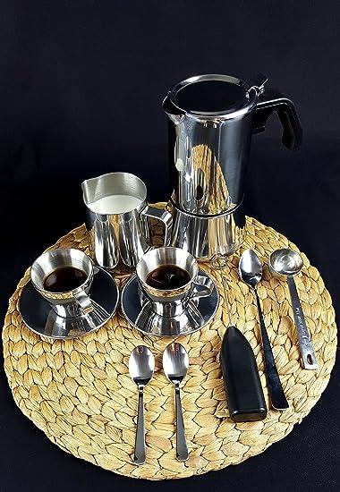 IKEA Metal Espresso Moka Pot Set de regalo: Espresso olla, jarra ...