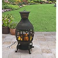 B H & G C0. Better Homes and Gardens Antique Bronze Cast Iron Chiminea, Durable cast Iron Construction!