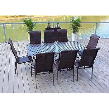 Amazon Com Cosco Outdoor 7 Piece Serene Ridge Aluminum