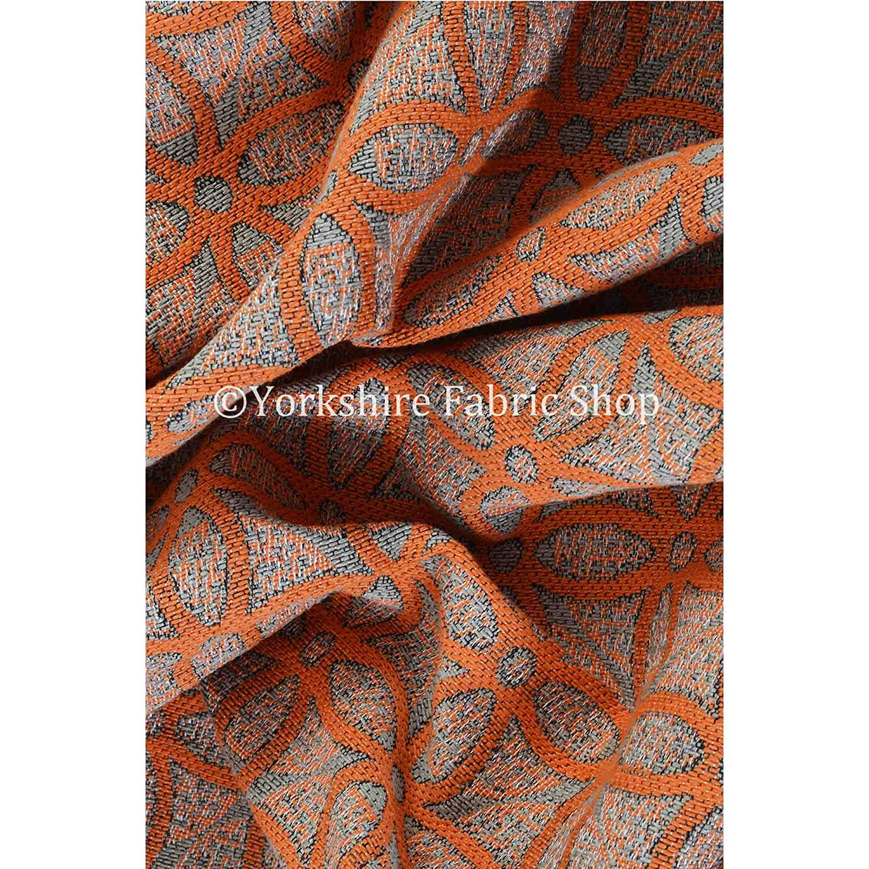 Yorkshire Fabric Shop Exclusiva tela color naranja Medallion ...