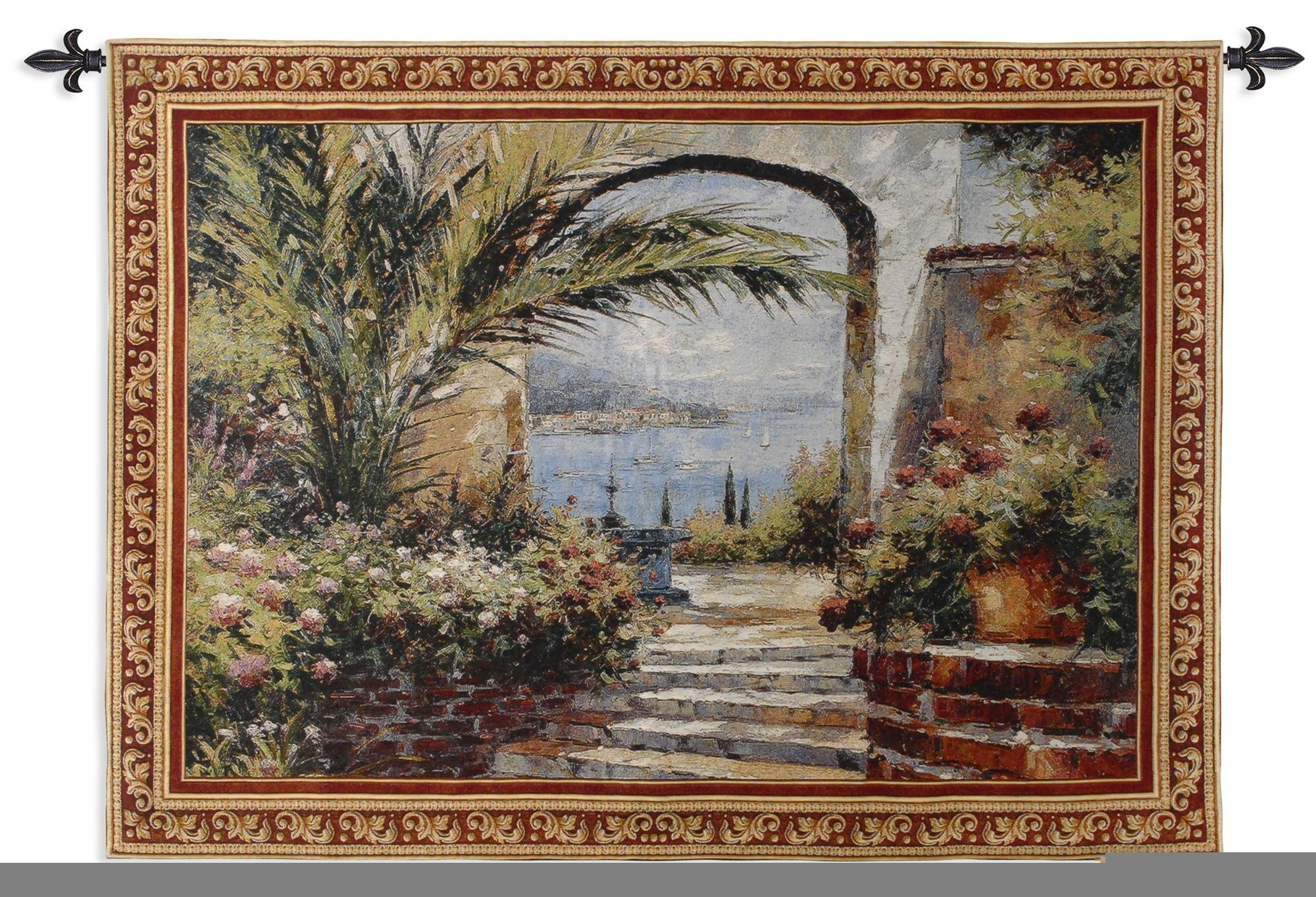 Fine Art Tapestries ''Rose Arch'' Wall Tapestry