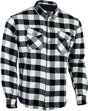 Camicia a maniche lunghe fibra aramid Lumberjack Duponttm Kevlar/® cotone flanella da moto