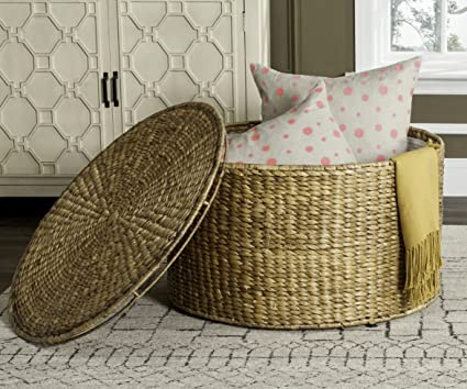 Charmant Image Unavailable. Image Not Available For. Color: Sun Inspired Round  Wicker Storage Natural Sturdy Coffee Table Rattan