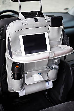 Auto R/ückenlehnenschutz mit Tisch von ROSENBORG Schulte I Autositz Organizer mit Halter f/ür Tablet I 60 cm x 43 cm schwarz