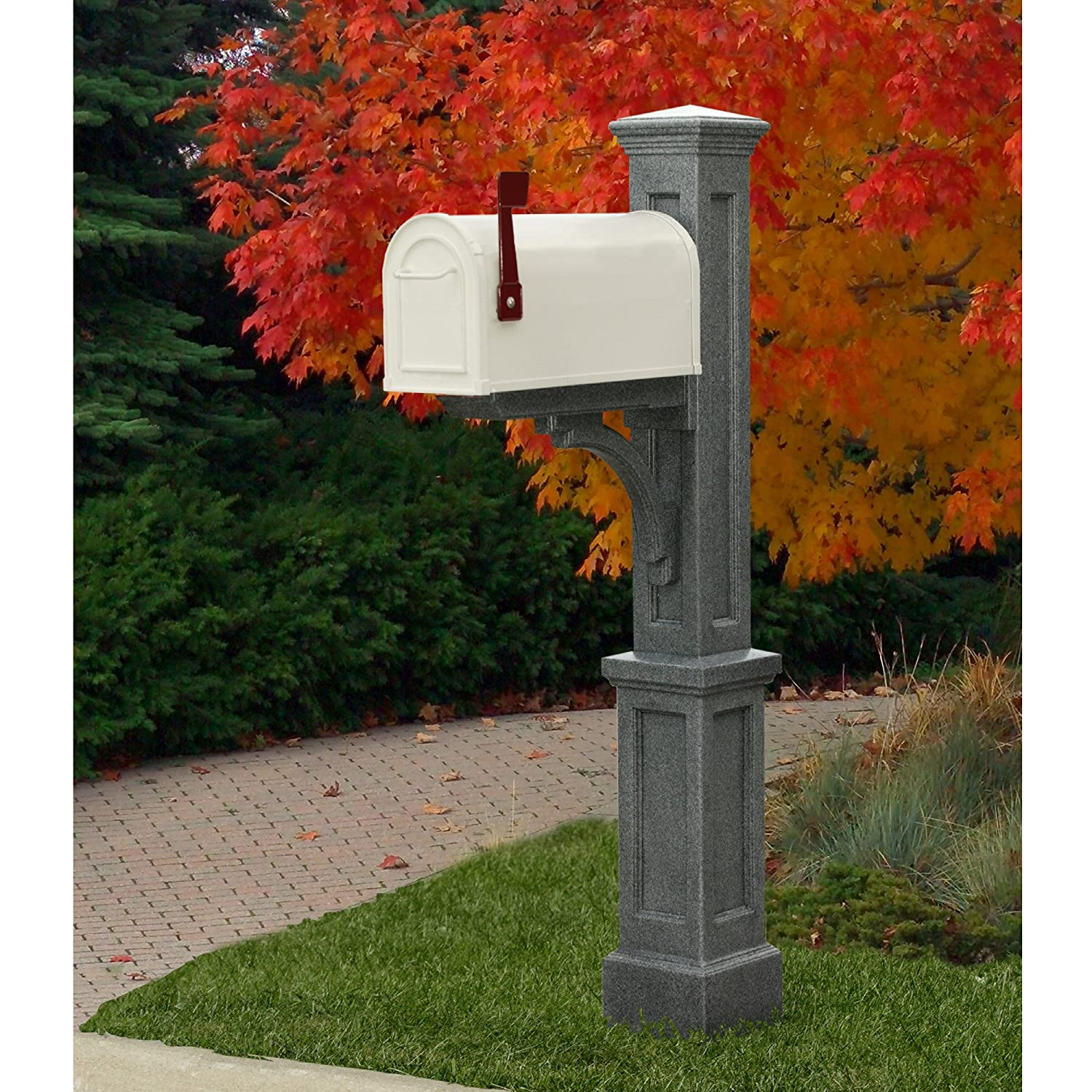 amazoncom mayne 580b00300 newport plus mail post only black home improvement - Decorative Mailboxes