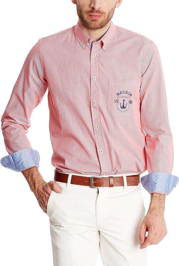 Macson Camisa Hombre Rojo 39 cm (ES 02): Amazon.es: Ropa y accesorios