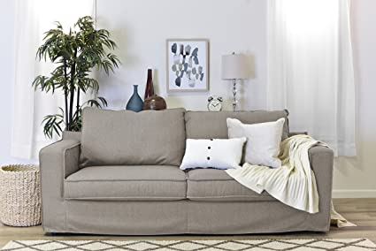 Incredible Serta Colton 85 Sofa With Slipcover In Light Beige Download Free Architecture Designs Ogrambritishbridgeorg