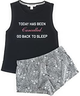 fd9b1e2581f2f Victoria's Secret Ribbed Cami Tank & Shorts Pajama Set at Amazon ...