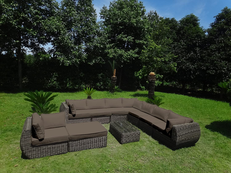 Baidani rundrattan garten lounge masterpiece integrierter stauraum