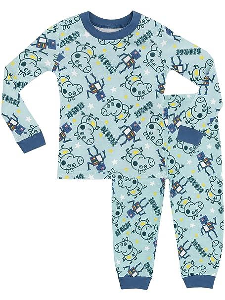 George Pig - Pijama para Niños - George Pig - Ajuste Ceñido - 18 - 24