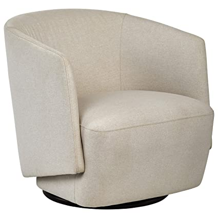 Pleasant Rivet Coen Contemporary Modern Upholstered Accent Swivel Chair 30W Cream Pabps2019 Chair Design Images Pabps2019Com