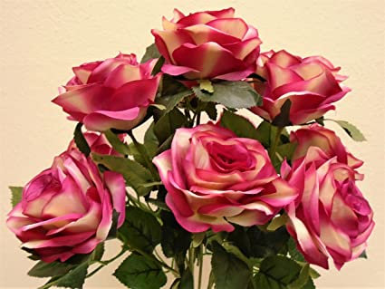 Silk flowers phoenix image collections flower decoration ideas silk flowers phoenix choice image flower decoration ideas amazon phoenix silk open rose bush 10 artificial mightylinksfo