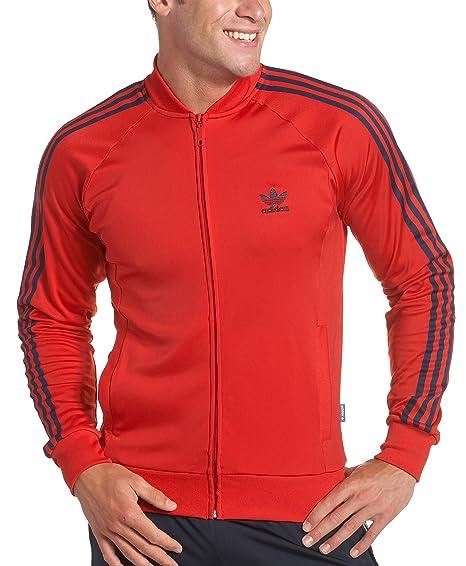 premium selection eff14 a05da adidas Men s Superstar Track Jacket,Light Scarlet,X-Large