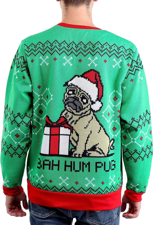 Mad Engine Mens Santa Pets Ugly Christmas Sweater Sweatshirt