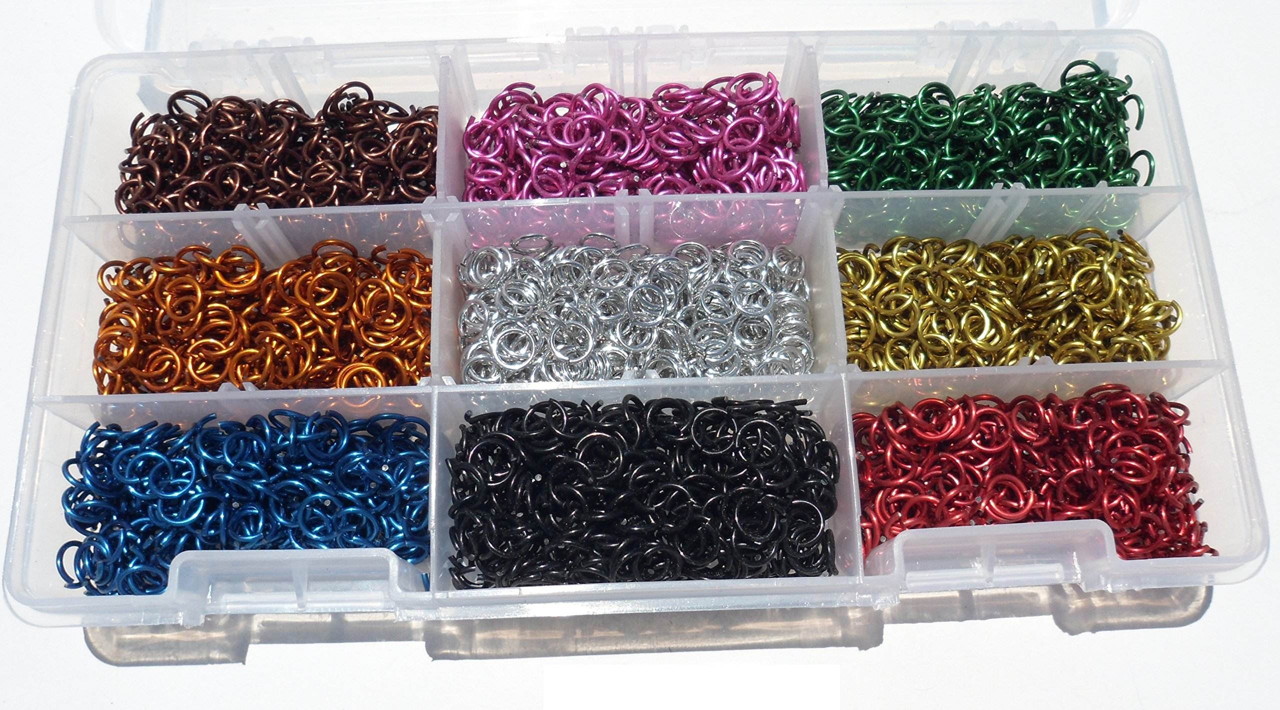 American Chain Mail Jeweler Starter Kit Anodized Aluminum Jump Rings, 1/4 Inch ID (16 Gauge) by American Chain Mail