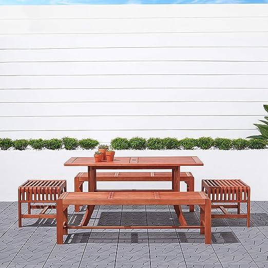 Amazon.com: Malibu v189set12 ecológicos 5 piezas madera ...