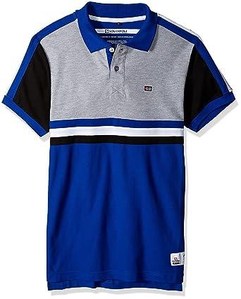 d7e100717c3f8 Amazon.com  Southpole Men s Short Sleeve Stripe Polo Shirt  Clothing