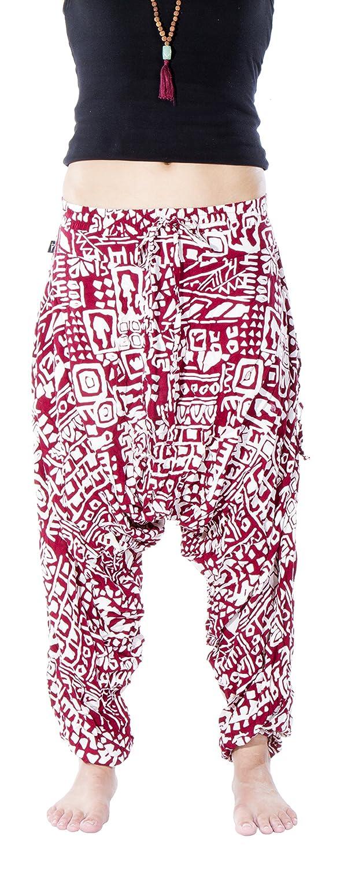 BUDDHA PANTS Premium Cotton Harem Pants Aztec Pattern SAVF-001-AZ-PAR