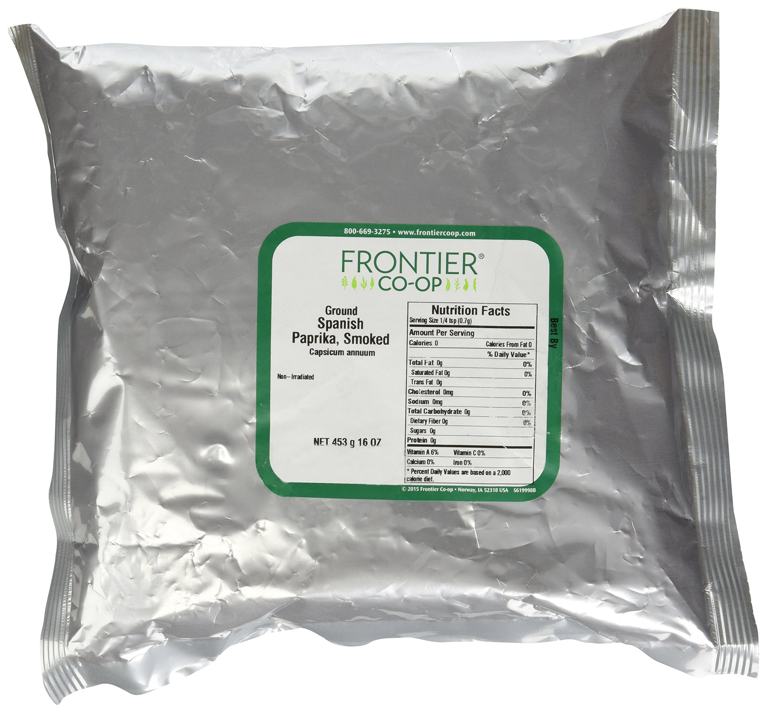 Frontier Herb Paprika Powder, Smoked, Spanish, Ground, Bulk, 1 Pound