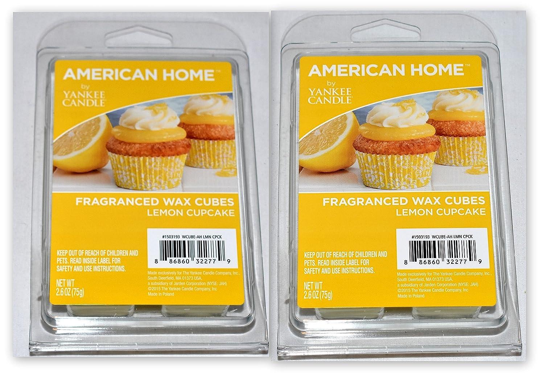 新しい( 2pk ) 6個レモンカップケーキ香りAmericanホームYankee CandleワックスキューブMelt Tarts B078XP63H5