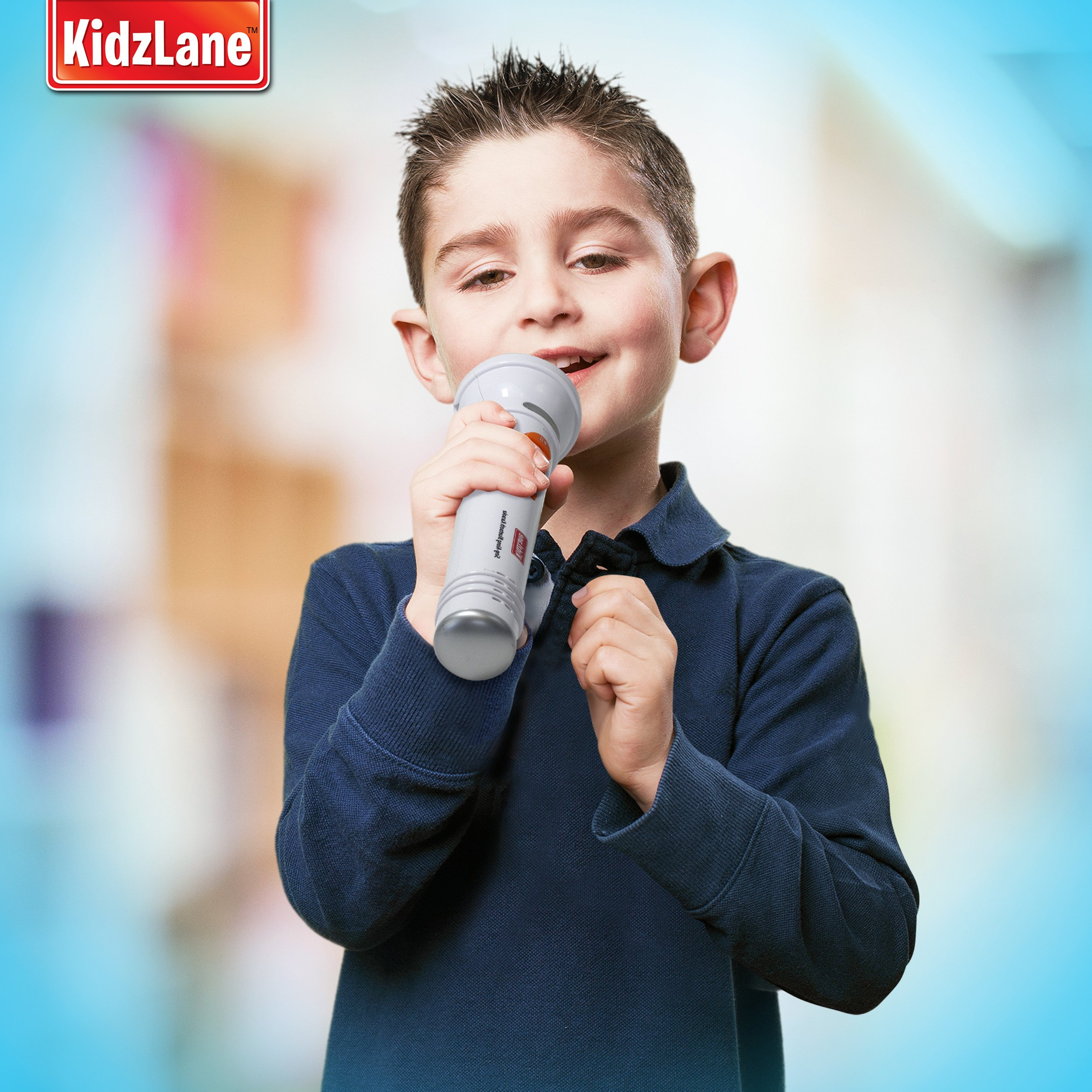 Kidzlane Microphone for Kids - Karaoke Machine Sing-A-Long Music Player with Built in Speakers, Preprogrammed Music and Wireless Connnectivity by Kidzlane (Image #4)
