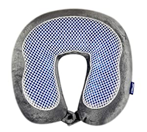 Cloudz Microbead Cool Gel & Bamboo Travel Neck Pillow - Grey