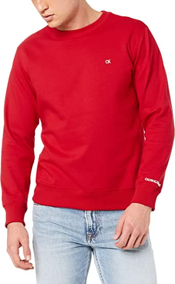 CALVIN KLEIN Jeans Men's Chest Badge Crew Neck Sweater