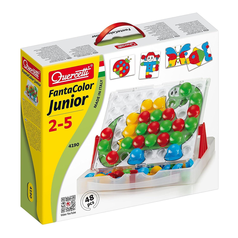 Quercetti 4190 Fanta color junior - Mosaico de fichas: Amazon.es: Juguetes y juegos
