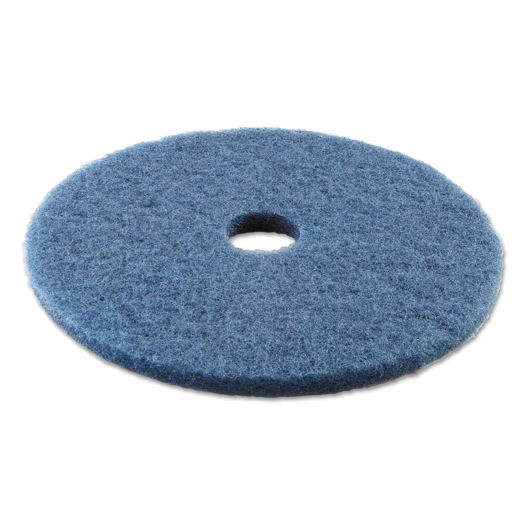 Boardwalk BWK4020BLU Standard Scrubbing Floor Pads, 20'' Diameter, Blue (Case of 5)