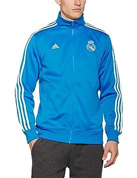adidas Real Madrid 3 Stripes Chaqueta, Hombre, (Bright Blue/White), XXL: Amazon.es: Deportes y aire libre