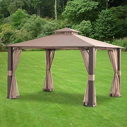 Garden Winds Lcm1362b Woven Gazebo Replacement Canopy Beige Garden Outdoor