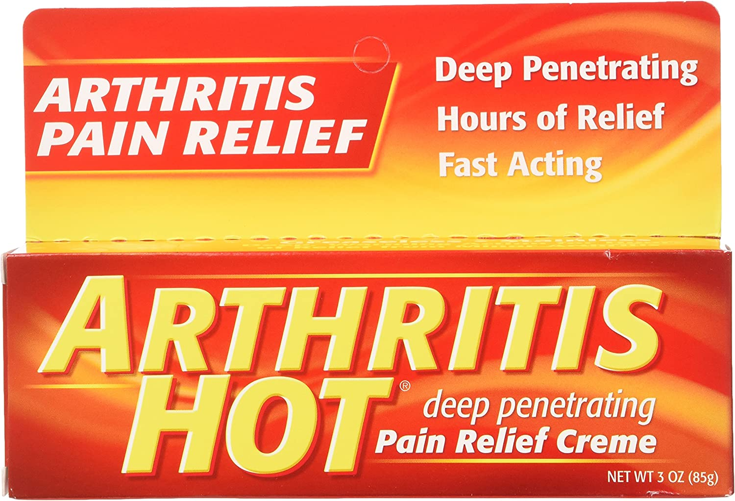 Arthritis Hot Pain Relief Creme 3 oz - (Pack of 6): Health & Personal Care