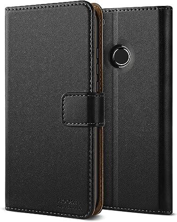 HOOMIL Coque Huawei P8 Lite 2017, Housse en Cuir Premium Flip Case Portefeuille Etui pour Huawei P8 Lite 2017 (H3175, Noir)