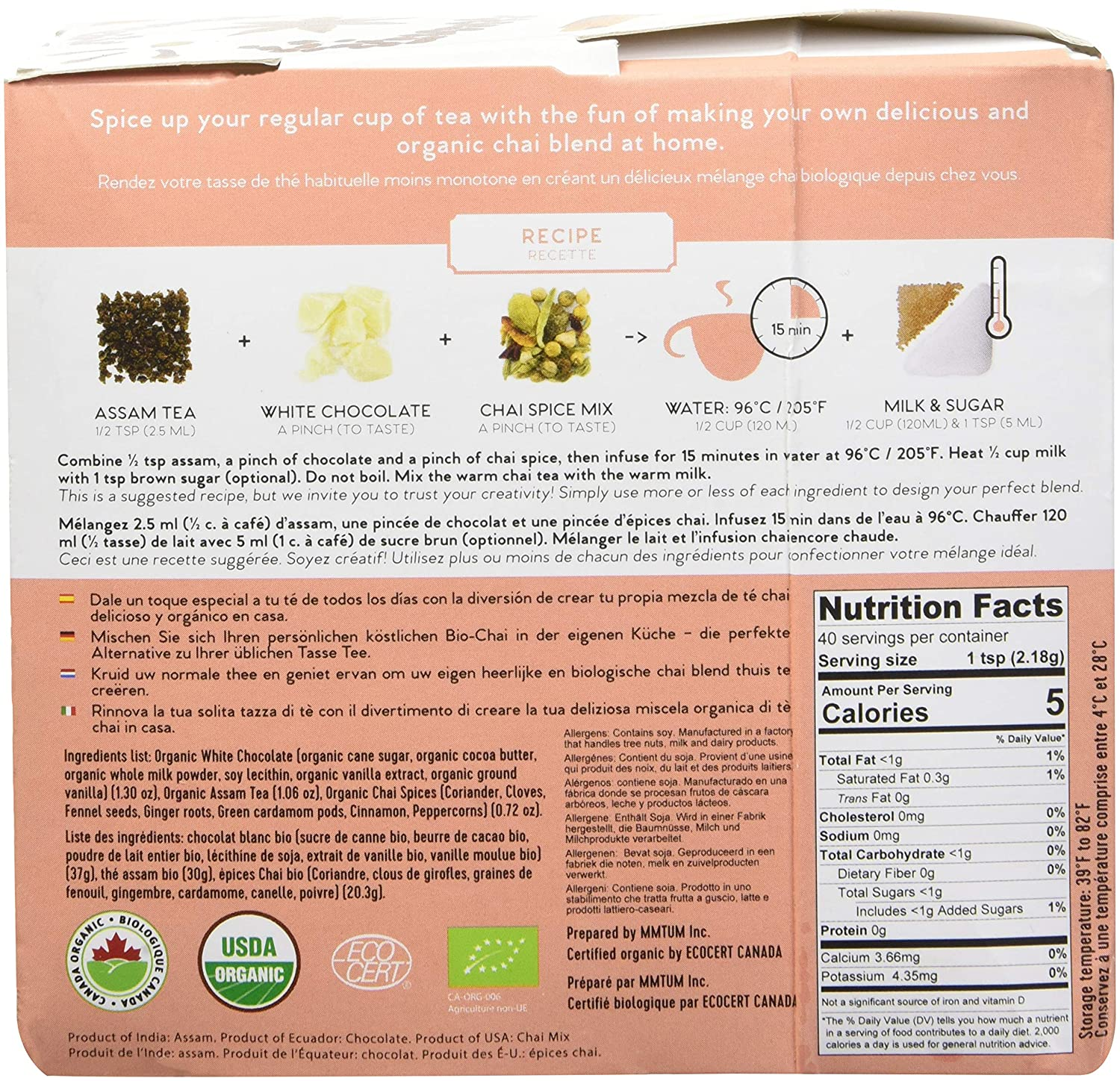 Amazon.com: Chai Latte Tea Blending Kit - Tea it Yourself: Kitchen & Dining