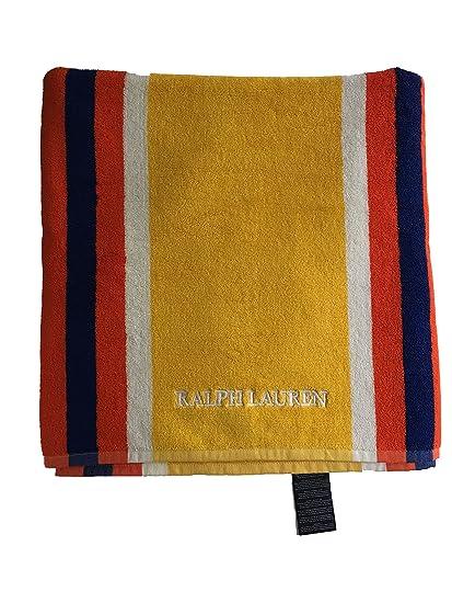 Polo Ralph Lauren harbourview rayas azul marino/rojo playa baño toalla de ducha (100