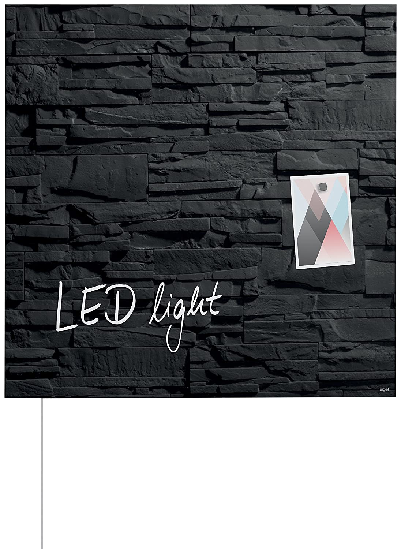 Sigel GL454 48 x 48 cm diseño pizarra pizarra LED luz ...