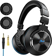 Moukey Wired Over Ear DJ Stereo Monitor Headphones, Professional Studio Monitor & Mixing, Music Listening, Piano, Sound Gami