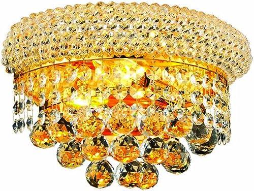 Elegant Lighting 1800W12G/RC Primo 6-Inch High 2-Light Wall Sconce
