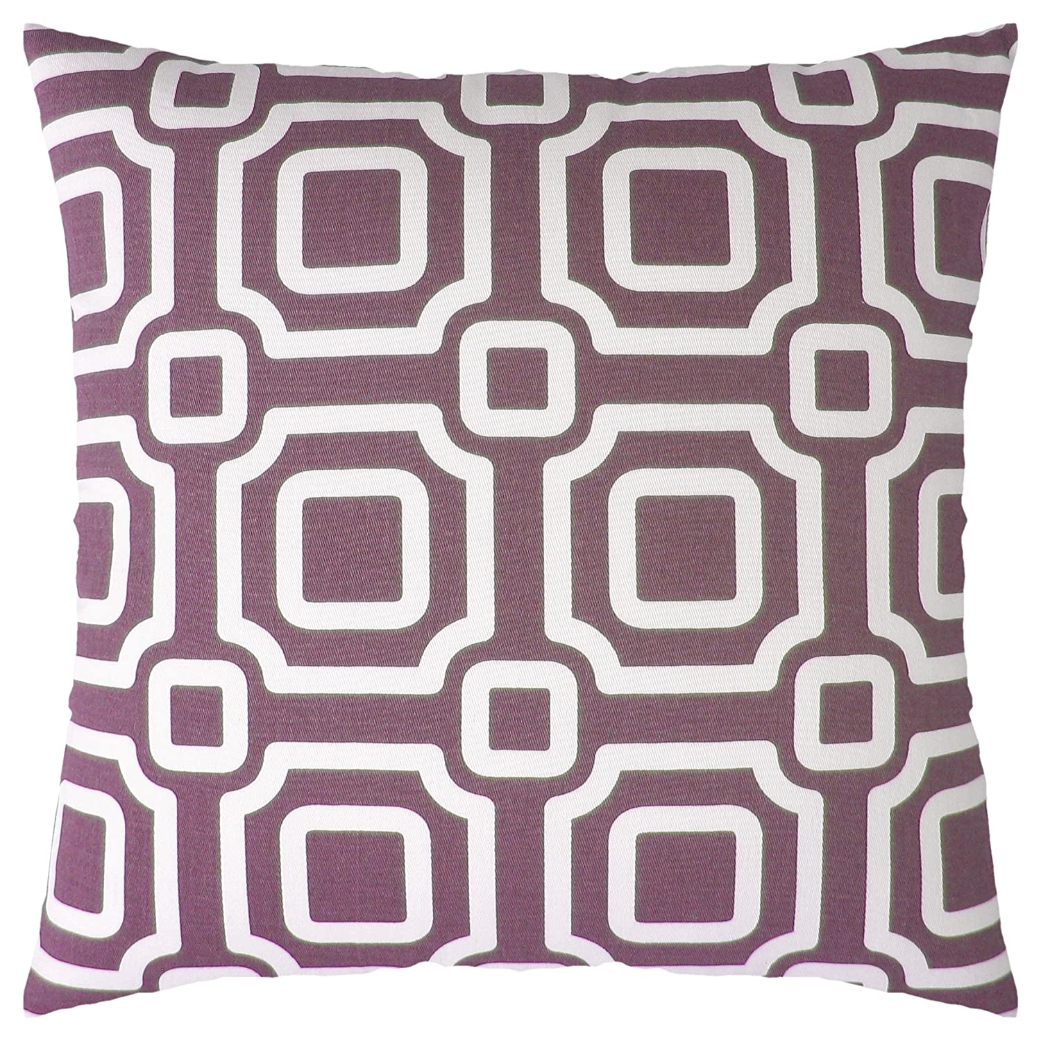 JinStyles Accent Decorative Throw Pillow Cover Lumbar 1 Cover 12 x 20 Purple Honeycomb