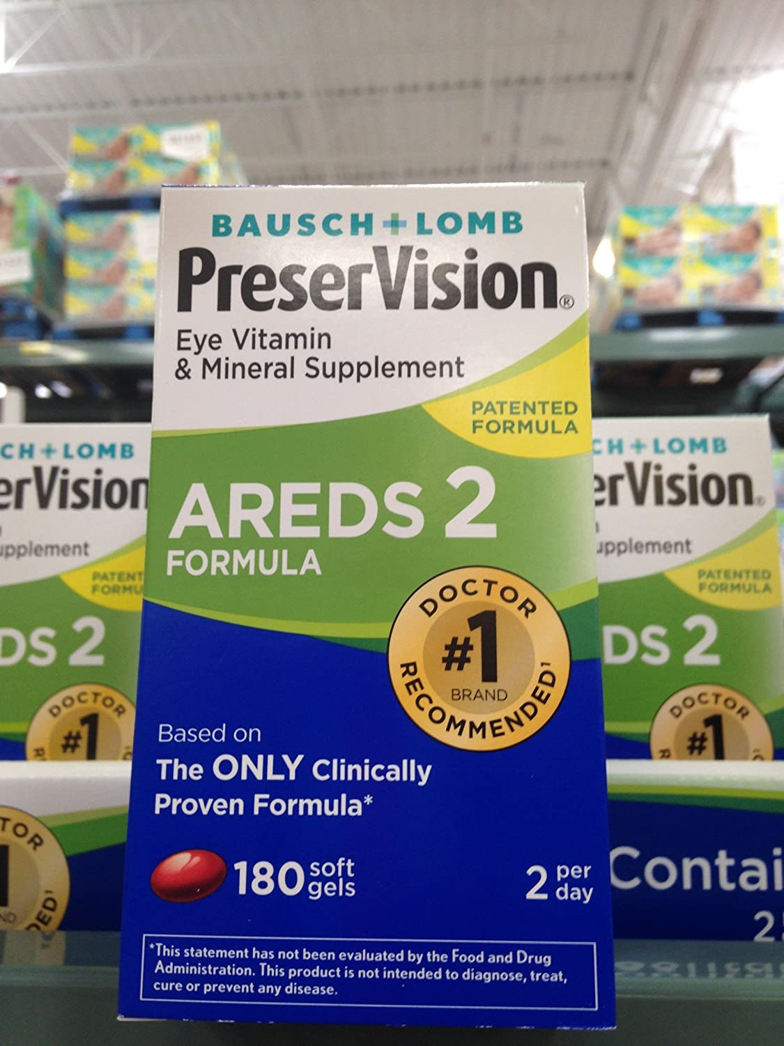 Bausch & Lomb preservision areds2 Eye Vitamin 180 ct (Pack of 6)