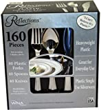 Reflections Plastic Silverware, 160 Pieces
